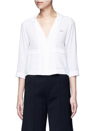 Main View - Click To Enlarge - Equipment - x Kate Moss 'Lake' KM initial silk pyjama top