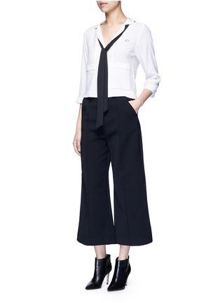 Figure View - Click To Enlarge - Equipment - x Kate Moss 'Lake' KM initial silk pyjama top