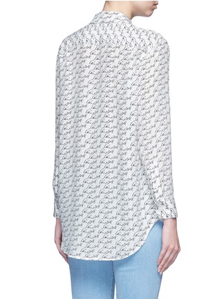 Back View - Click To Enlarge - Equipment - 'Reese' Kate Moss print silk shirt