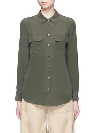 Main View - Click To Enlarge - EQUIPMENT - 'Slim Signature' silk shirt
