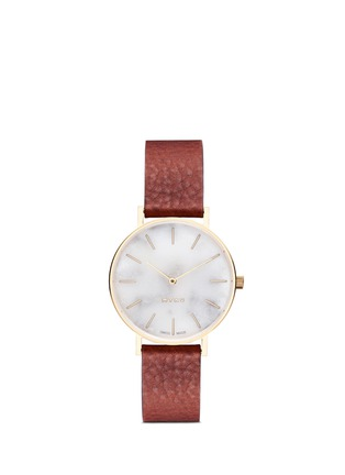 Main View - Click To Enlarge - Myku - One of a kind<br/>White marble gold plated watch