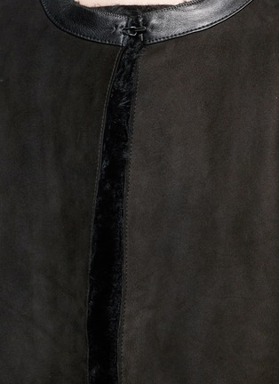 Detail View - Click To Enlarge - KARL DONOGHUE - Reversible Alpine lambskin shearling gilet