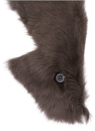 Detail View - Click To Enlarge - KARL DONOGHUE - Mesh embossed Toscana lambskin shearling button shrug