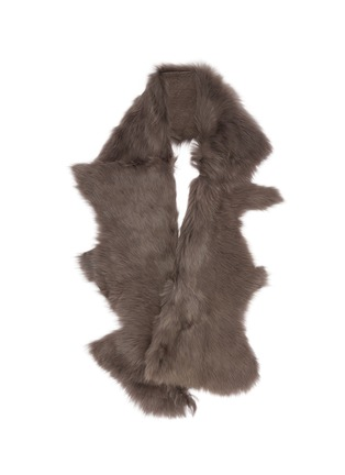 Main View - Click To Enlarge - KARL DONOGHUE - Mesh embossed Toscana lambskin shearling button shrug
