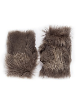 Main View - Click To Enlarge - KARL DONOGHUE - Reversible Toscana lambskin shearling fingerless gloves