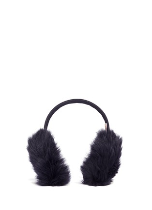 Main View - Click To Enlarge - KARL DONOGHUE - Mesh embossed Toscana lambskin shearling ear muffs
