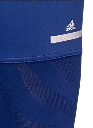 Detail View - Click To Enlarge - Adidas By Stella Mccartney - 'Studio Zebra' three-quarter tights