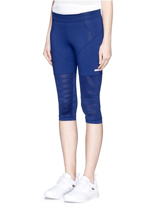 Front View - Click To Enlarge - Adidas By Stella Mccartney - 'Studio Zebra' three-quarter tights