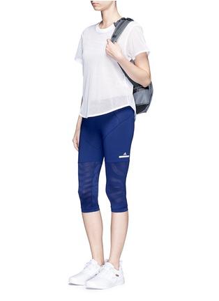 Figure View - Click To Enlarge - Adidas By Stella Mccartney - 'Studio Zebra' three-quarter tights