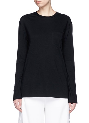 Main View - Click To Enlarge - T By Alexander Wang - Side split hem T-shirt