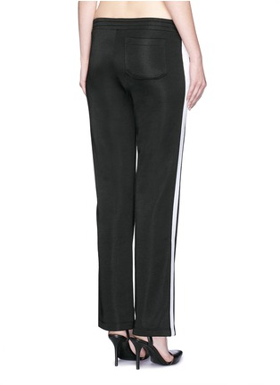 Back View - Click To Enlarge - T By Alexander Wang - Outseam stripe sleek French terry sweatpants