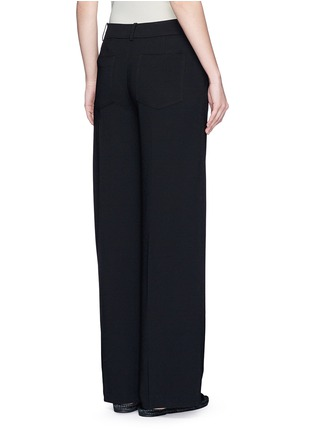 Back View - Click To Enlarge - T By Alexander Wang - Wide leg stretch crepe pants