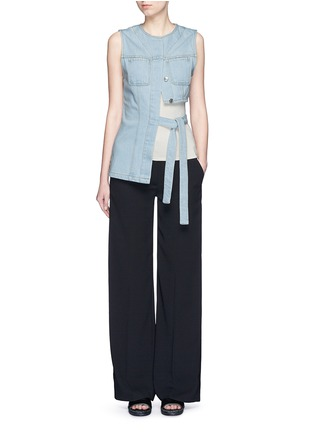 Figure View - Click To Enlarge - T By Alexander Wang - Wide leg stretch crepe pants
