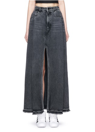 Main View - Click To Enlarge - T By Alexander Wang - Deconstructed denim maxi skirt