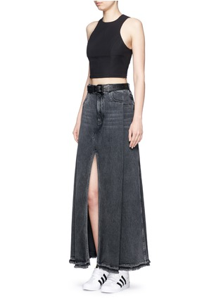 Figure View - Click To Enlarge - T By Alexander Wang - Deconstructed denim maxi skirt