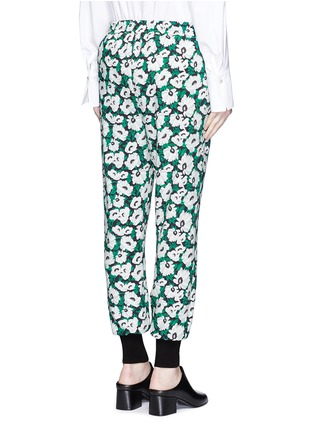 Back View - Click To Enlarge - STELLA MCCARTNEY - Margarita flower print crepe pants
