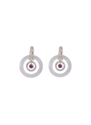 Main View - Click To Enlarge - Samuel Kung - Convertible jade diamond pink sapphire earring pendant