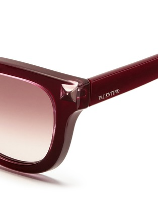 Detail View - Click To Enlarge - Valentino - Inlaid Rockstud acetate sunglasses