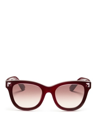 Main View - Click To Enlarge - Valentino - Inlaid Rockstud acetate sunglasses