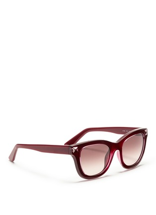 Figure View - Click To Enlarge - VALENTINO - Inlaid Rockstud acetate sunglasses