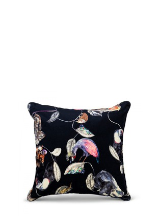 Main View - Click To Enlarge - House of Hackney - Midnight Garden Large Cotton Velvet Cushion
