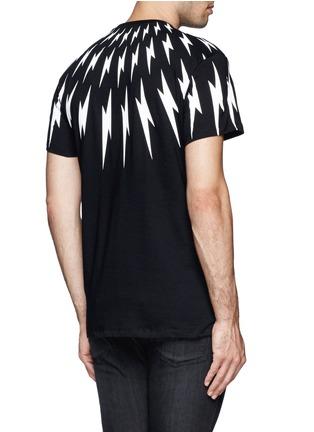 Back View - Click To Enlarge - NEIL BARRETT - Thunderbolt print T-shirt