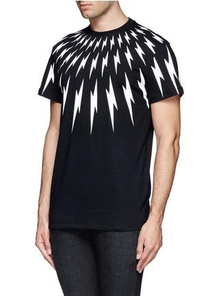 Front View - Click To Enlarge - NEIL BARRETT - Thunderbolt print T-shirt