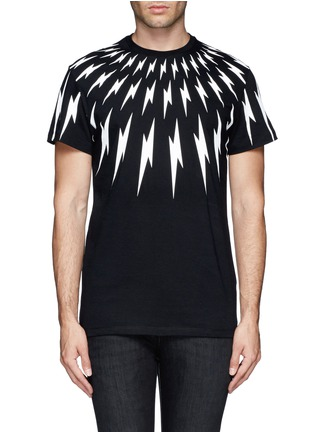 Main View - Click To Enlarge - NEIL BARRETT - Thunderbolt print T-shirt