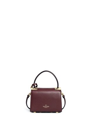Back View - Click To Enlarge - Valentino - 'My Rockstud' mini top handle leather bag