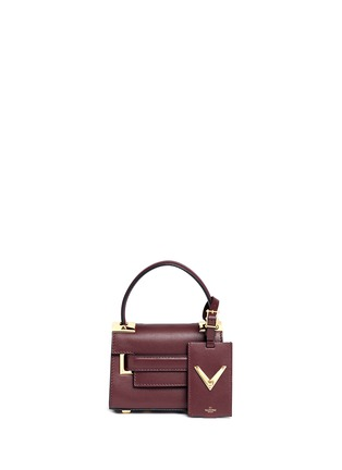 Main View - Click To Enlarge - Valentino - 'My Rockstud' mini top handle leather bag
