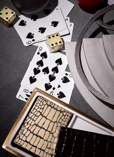 L'Objet Crocodile playing card box