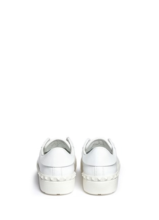Back View - Click To Enlarge - Valentino - Colourblock leather combo stud sneakers
