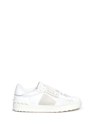 Main View - Click To Enlarge - Valentino - Colourblock leather combo stud sneakers