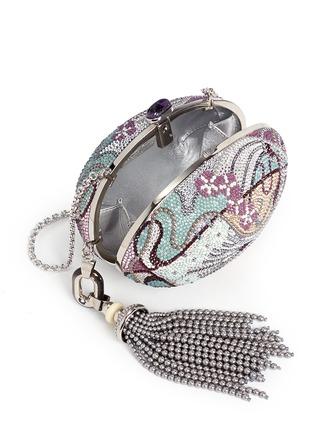 Detail View - Click To Enlarge - JUDITH LEIBER - 'Egg Fantasia' crystal pavé minaudière