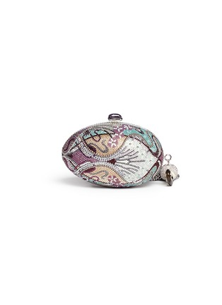 Back View - Click To Enlarge - JUDITH LEIBER - 'Egg Fantasia' crystal pavé minaudière