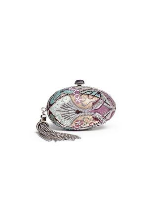 Main View - Click To Enlarge - JUDITH LEIBER - 'Egg Fantasia' crystal pavé minaudière