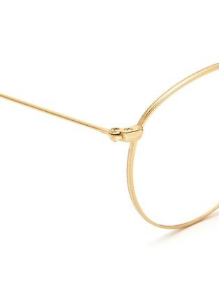 Detail View - Click To Enlarge - Ray-Ban - 'RB3532' round metal folding optical glasses