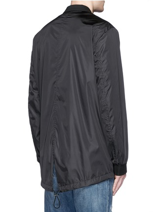 Back View - Click To Enlarge - Dsquared2 - Notch lapel technowool front nylon blazer
