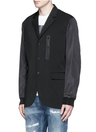 Front View - Click To Enlarge - Dsquared2 - Notch lapel technowool front nylon blazer