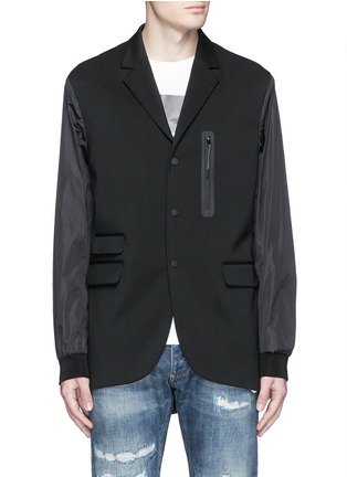Main View - Click To Enlarge - Dsquared2 - Notch lapel technowool front nylon blazer