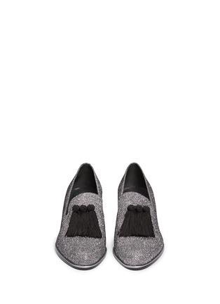 Front View - Click To Enlarge - Stuart Weitzman - Razmataz' tassel glitter loafers