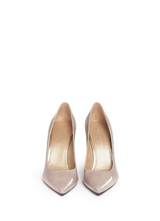 Front View - Click To Enlarge - Stuart Weitzman - 'Heist' patent leather pumps