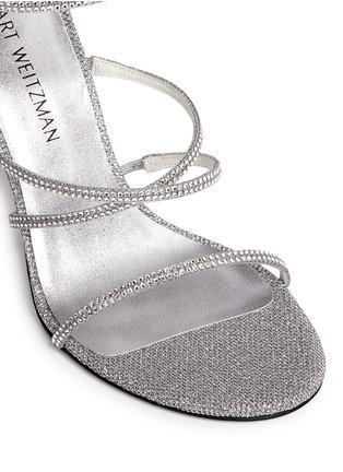 Detail View - Click To Enlarge - Stuart Weitzman - 'Galaxy' Swarovski crystal strap lamé sandals
