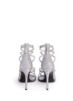 Back View - Click To Enlarge - Stuart Weitzman - 'Galaxy' Swarovski crystal strap lamé sandals