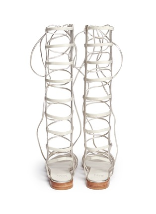 Back View - Click To Enlarge - Stuart Weitzman - 'Sparta' knee high leather gladiator sandals