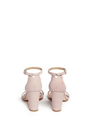 Back View - Click To Enlarge - Stuart Weitzman - 'Simple' ankle strap nubuck leather sandals