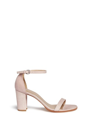 Main View - Click To Enlarge - Stuart Weitzman - 'Simple' ankle strap nubuck leather sandals