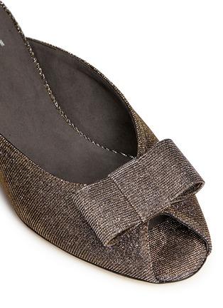 Detail View - Click To Enlarge - Stuart Weitzman - 'Candy' peep toe metallic lamé sandals
