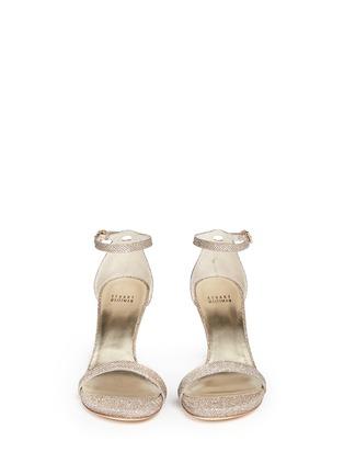 Front View - Click To Enlarge - Stuart Weitzman - Ankle strap lamé glitter sandals