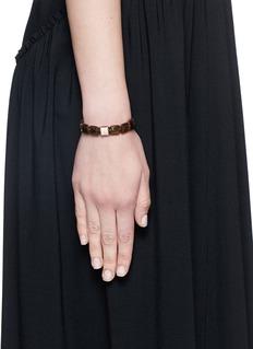 Shamballa Jewels 'Lock' diamond pavé 18k rose gold bracelet